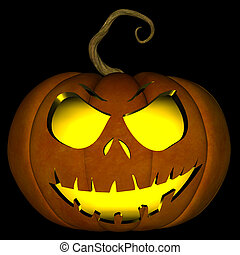 Halloween Jack O Lantern 05 - A illustration of a spooky...