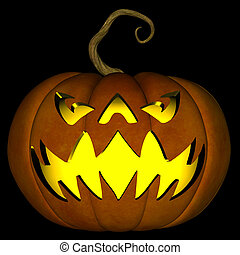 Halloween Jack O Lantern 02 - A illustration of a spooky...