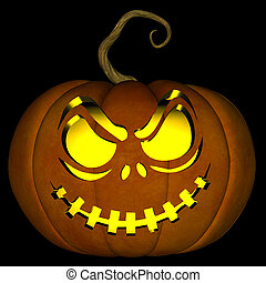 Halloween Jack O Lantern 03 - A illustration of a spooky...