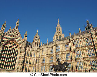 Houses of Parliament Westminster Palace with Lord Cromwell...