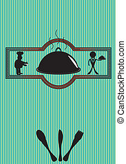 Menu cover - Vector illustration of restaurant menu