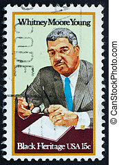Postage stamp USA 1981 Whitney Moore Young - UNITED STATES...