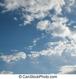 Blue Sky with Clouds - Blue Sky convered with Cloudscapes