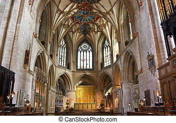 the altar at tewkesbury abbey - the grand altar at...