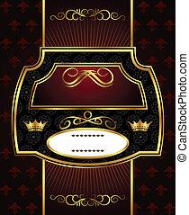decorative gold frame label