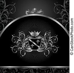 luxury vintage aluminium frame template