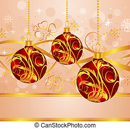 abstract background with Christmas balls - Illustration...