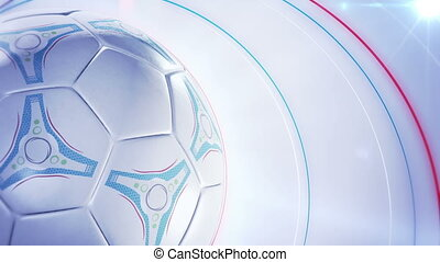 soccer ball football background - spinning soccerball...