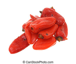 Roasted jalapeno peppers - Several roasted red jalapeno...