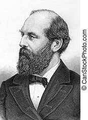 James Abram Garfield (1831-1881) on engraving from 1800s....