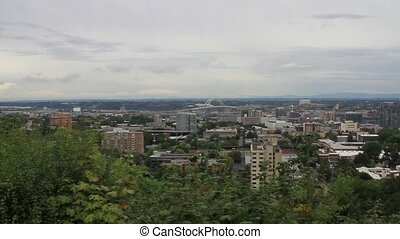 Downtown Portland Oregon Cityscape - Portland Oregon...