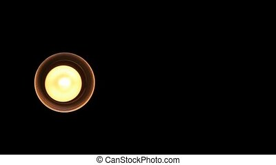 Moving Lamplight on Dark Background - Circular Moving Lamp...