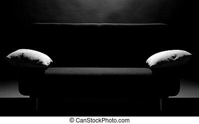 Sofa with ottomans