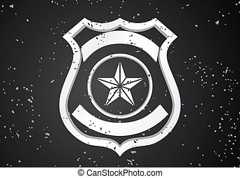 Security badge - Vector Security badge on black background