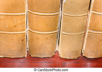 Legal bound books from university library - Tomes of thick...