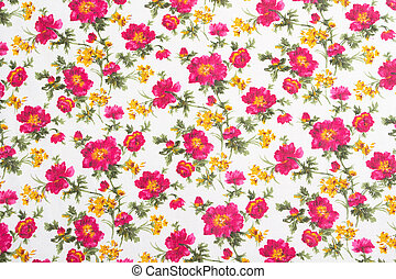 Floral pattern on seamless cloth Flower bouquet Vintage...