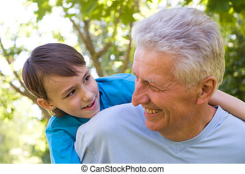 grandson with his grandfather