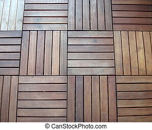 Wooden flooring for balconies - Brown decorative wooden...
