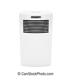 Modern mobile air conditioner - Front view of modern mobile...