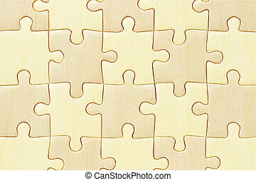 Checkered jigsaw puzzle - Close up image of checkered wooden...