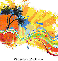 Tropical vector design with palm tree