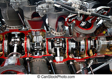 Engine Cut Away - Engine cut away close up
