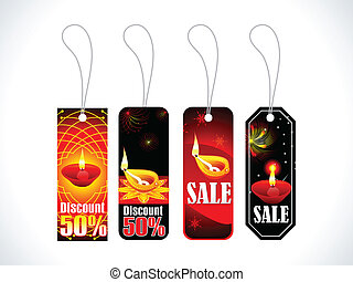 abstract colorful multiple tags set