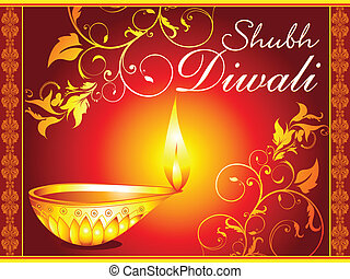 abstract diwali wallpaper vector illustration