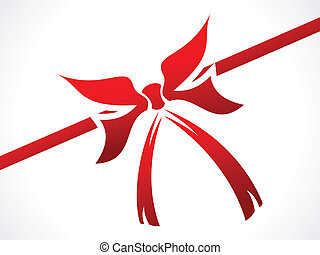 abstract red ribbon for gift
