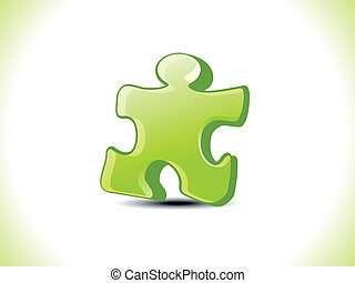 abstract green puzzel icon