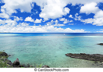 beautiful sea in Okinawa