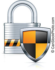 Padlock and shield