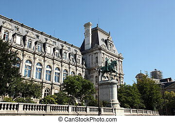 Hotel de Ville Paris - the Hotel de Ville in Paris, France,...