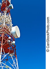 Communications Tower - Communications tower with a beautiful...