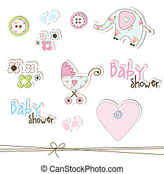 Cute elements for scrapbook