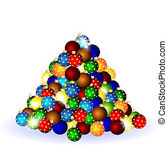 Christmas balls - on a white background there is a...