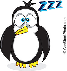 cute sleepy looking penguin