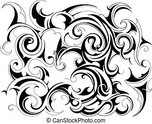 Tribal art background - Decorative background with tribal...