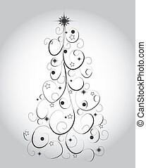 Graphic elegant Christmas tree