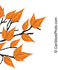 Autumnal brunch, vector illustration,