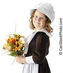 Pilgrim Flower Girl