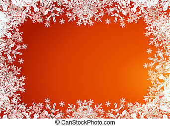 Christmas Card Background - Orange Red christmas card...