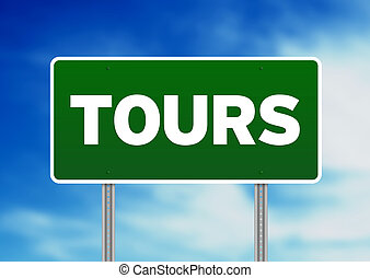 Green Road Sign - Tours, France - Green Tours, France...