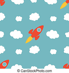 Seamless Rocket Pattern