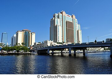 Tampa Bay, Florida - a view of the downtown from the Harbour...