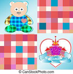 magical fairytale castle pink bear