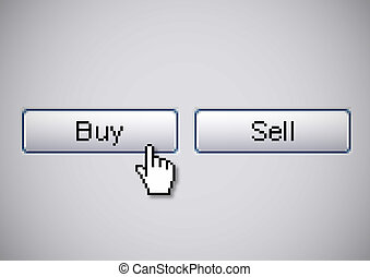 Buy Sell buttons from a computer for stock market action