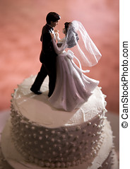 Wedding Cake Figurines - Figures of Bride and Groom dancing...