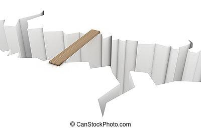 Precipice - Transition over a precipice in the form of a...