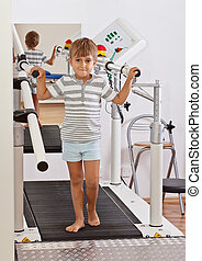Boy on a Treadmill